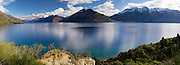 Panoramic view of Lake Wakatipu from just south of Frankton, Southland, New Zealand; Sept 2012
