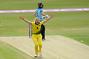 WICKET - Ellyse Perry appeals for LBW against Heather Knight during the Royal London Women's One Day International match between England Women Cricket and Australia at the Fischer County Ground, Grace Road, Leicester, United Kingdom on 2 July 2019.