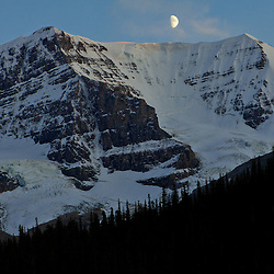 Mt Andromeda at the Columbia Icefields at sunset