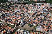Nederland, Noord-Holland, Alkmaar, 14-07-2008; binnenstad (met Waag in de voorgrond). .luchtfoto (toeslag); aerial photo (additional fee required); .foto Siebe Swart / photo Siebe Swart