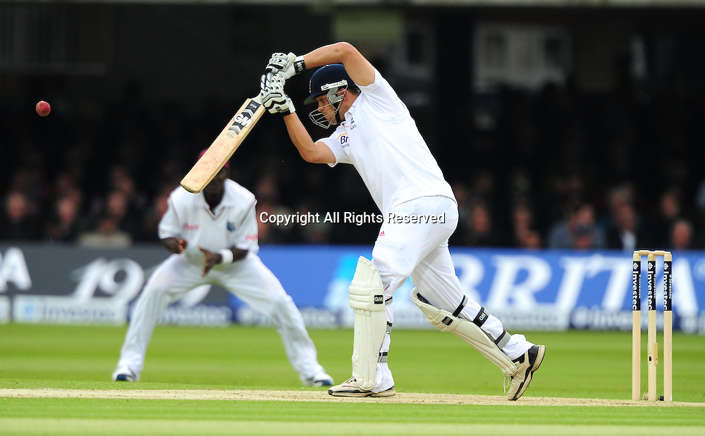 18.05.2012 London, England.  Jonathan Trott in action during the First Test between England and West Indies from Lords.