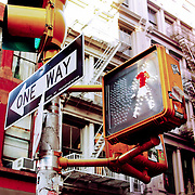 Gay walk sign, New York, United States (March 2005)