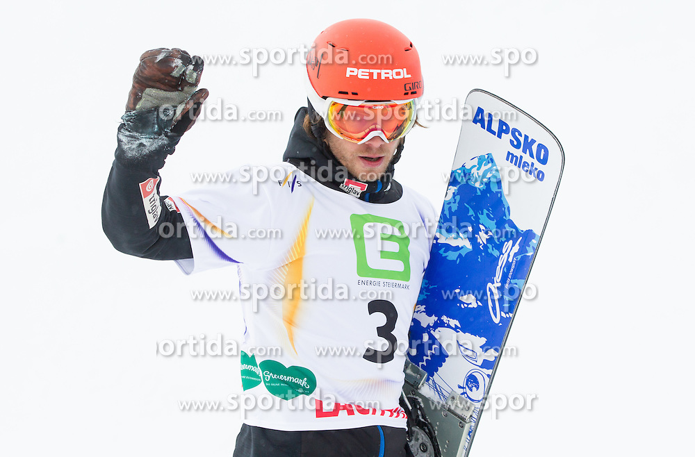 Zan Kosir of Slovenia competed during semifinal of the Men's Parallel Giant Slalom at FIS World Championships of Snowboard and Freestyle 2015, on January 23, 2015 at the WM Piste in Lachtal, Austria. Photo by Vid Ponikvar / Sportida
