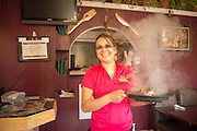 Karmina, wife of owner and chef Juan serves up authentic Mexican food at Burrito Vaquero in Roseburg, Oregon.