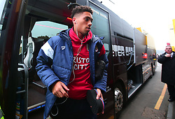 Zak Vyner of Bristol City arrives at Vicarage Road for the FA Cup third round tie against Watford  - Mandatory by-line: Robbie Stephenson/JMP - 06/01/2018 - FOOTBALL - Vicarage Road - Watford, England - Watford v Bristol City - Emirates FA Cup third round proper