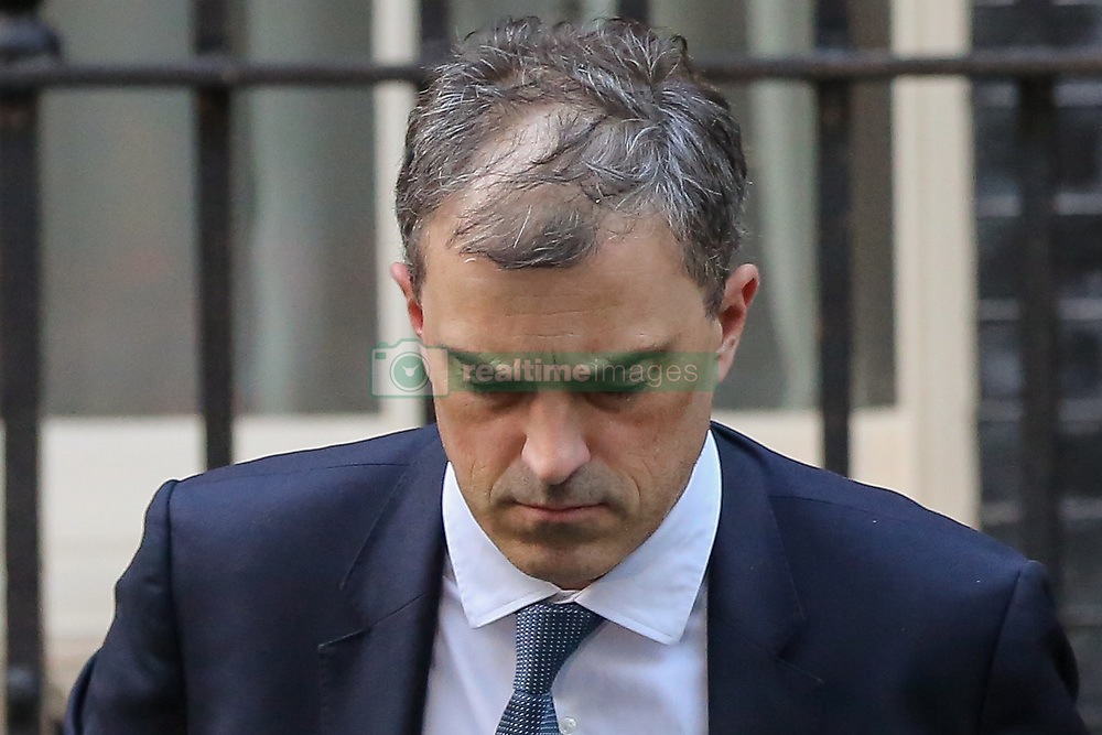 November 19, 2018 - London, United Kingdom - Julian Smith, Parliamentary Secretary to the Treasury (Chief Whip) is seen departing from No 10 Downing Street. (Credit Image: © Dinendra Haria/SOPA Images via ZUMA Wire)