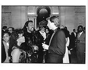 Valerie Simpson, Nicholas Hashford and Edgar Bronfman JNr. Tribute to Paul Robeson. NY public Library. NY. 1988.  © Copyright Photograph by Dafydd Jones 66 Stockwell Park Rd. London SW9 0DA Tel 020 7733 0108 www.dafjones.com