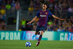 September 18, 2018 - Barcelona, Barcelona, Spain - Sergio Busquets of FC Barcelona in action during the UEFA Champions League group B match between FC Barcelona and PSV Eindhoven at Camp Nou on September 18, 2018 in Barcelona, Spain  (Credit Image: © Sergio Lopez/NurPhoto/ZUMA Press)