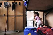 Daily life in the first house fror refugees (Albergue)  near lago Agrio