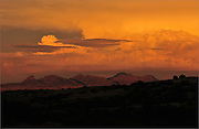 A monsoon sky seen from the grasslands in the foothills of the Santa Rita Mountains in the Coronado National Forest, Sonoran Desert, Arizona, USA.
