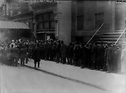 Men in bread line on 41st St., New York City]. Date Created/Published: 1915 Feb.