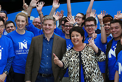 Prime Minister Bill English, left and MP Paula Bennett campaign around the NorthWest shopping mall in West Auckland, Auckland, New Zealand, Sunday, September 03, 2017. Credit:SNPA / Hayden Woodward**NO ARCHIVING**