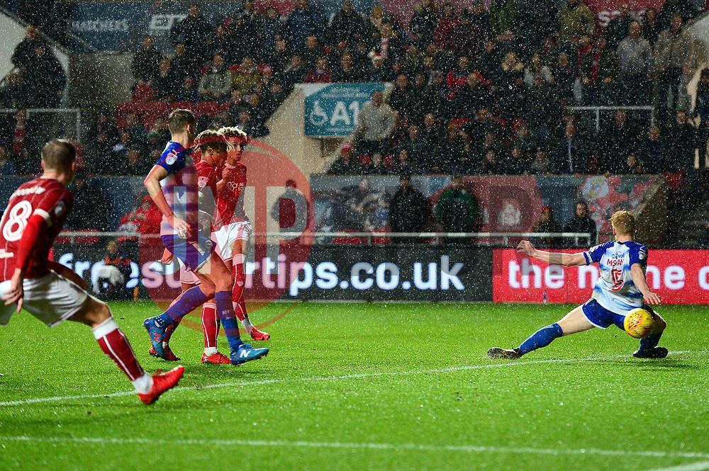 Lloyd Kelly of Bristol City scores to make it 2-0 - Mandatory by-line: Dougie Allward/JMP - 26/12/2017 - FOOTBALL - Ashton Gate Stadium - Bristol, England - Bristol City v Reading - Sky Bet Championship