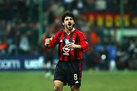 Milan 08-03-2005<br />Champions League 2004-2005<br />Milan Manchester United<br />nella  foto esultanza di Gattuso<br />Foto Snapshot / Graffiti