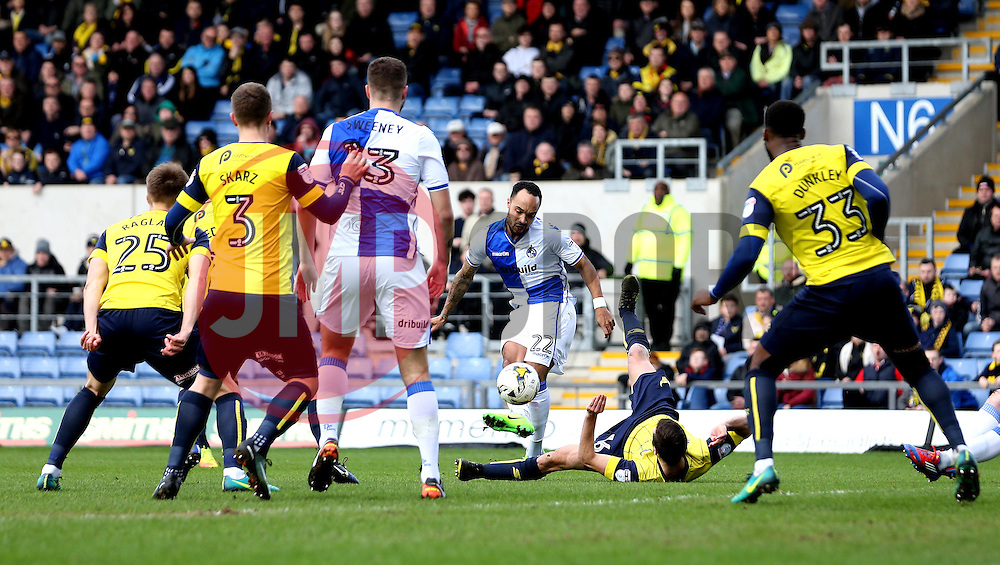 Byron Moore of Bristol Rovers shoots at goal - Mandatory by-line: Robbie Stephenson/JMP - 04/03/2017 - FOOTBALL - Kassam Stadium - Oxford, England - Oxford United v Bristol Rovers - Sky Bet League One