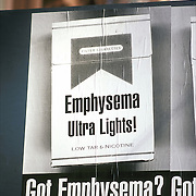 billboard - anti-smoking - anti-cigarette - Emphysema Ultra Lights - Got Emphysema? take off on the Got Milk? ads.