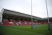 Bristol Rugby at Ashton Gate before the Green King IPA Championship match between Bristol Rugby and Hartpury at Ashton Gate, Bristol, England on 3 September 2017. Photo by Gary Learmonth.