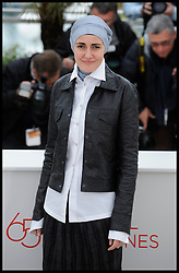 Aida Begic  pose's for Photographers during the Photocall for the film Djeca  during 65th Annual Cannes Film Festival at Palais des Festivals, Cannes, France, Monday May 21, 2012. Photo by Andrew Parsons/i-Images