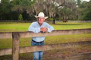 Charles Clark, Florida cowboy, photographed at Creek Ranch, Florida.