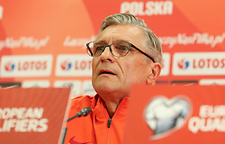 August 31, 2017 - Copenhagen, Denmark - Poland's head coach Adam Nawalka, during press conference before FIFA World Cup 2018 qualifier MD-1 between Denmark and Poland at Parken Stadium in Copenhagen, Denmark on 31 August 2017. (Credit Image: © Foto Olimpik/NurPhoto via ZUMA Press)
