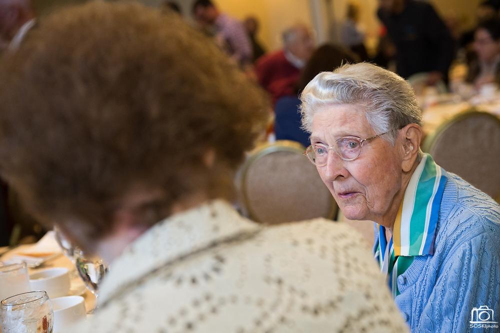 San Jose State University's Heritage Society hosts their annual luncheon at the Fairmont San Jose in San Jose, California, on October 31, 2017. (Stan Olszewski/SOSKIphoto)
