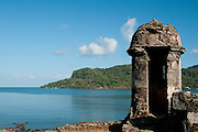 Battery of  Santiago (1760) Spanish fort at Portobelo Village, Colon Village,Panama,C.A.