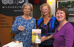 Author Deirdre Purcell pictured with Blaithnaid McLoughlin and Margaret Leneghan at Westport&rsquo;s Rolling Sun Book Festival festival over the weekend.<br /> Pic Conor McKeown