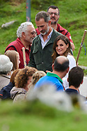 Queen Letizia of Spain, King Felipe VI of Spain, Crown Princess Leonor, Princess Sofia attends the Centenary of the creation of the National Park of Covadonga's Mountain at Lagos de Covadonga on September 8, 2018 in Cangas de Onis , Spain