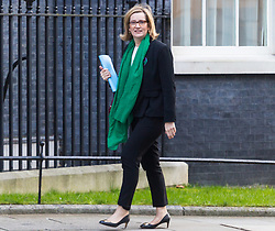 Home Secretary Amber Rudd arrives at 10 Downing Street in London to attend the weekly meeting of the UK cabinet - London. February 06 2018.