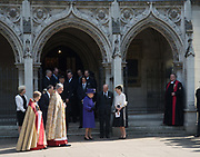 QUEEN ELIZABETH 11; PRINCE PHILIP , LADY SARAH CHATTO, Service of thanksgiving for  Lord Snowdon, St. Margaret's Westminster. London. 7 April 2017