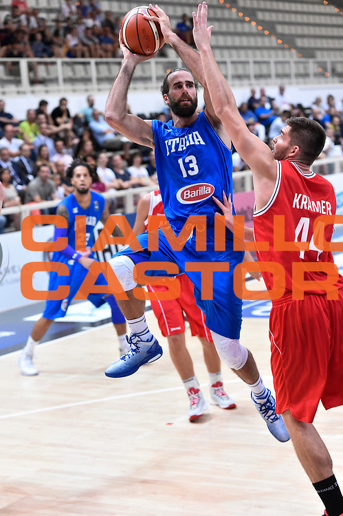 DESCRIZIONE : Trento Nazionale Italia Uomini Trentino Basket Cup Italia Austria Italy Austria <br /> GIOCATORE : Luigi Datome<br /> CATEGORIA : Tiro Equilibrio<br /> SQUADRA : Italia Italy<br /> EVENTO : Trentino Basket Cup<br /> GARA : Italia Austria Italy Austria<br /> DATA : 31/07/2015<br /> SPORT : Pallacanestro<br /> AUTORE : Agenzia Ciamillo-Castoria/GiulioCiamillo<br /> Galleria : FIP Nazionali 2015<br /> Fotonotizia : Trento Nazionale Italia Uomini Trentino Basket Cup Italia Austria Italy Austria