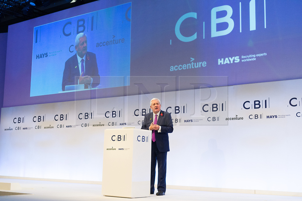 © Licensed to London News Pictures. 06/11/2017. London, UK.  CBI president PAUL DRECHSLER makies a keynote speech at the Confederation of British Industry (CBI) conference, held at Intercontinental Hotel. Photo credit: Ray Tang/LNP