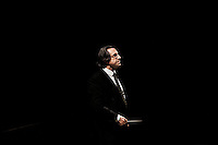 "ROME, ITALY - 12 MARCH 2013: Music director Riccardo Muti, 71, directs the third and last act of  ""I Due Foscari"", an opera in three acts by Giuseppe Verdi, at the Teatro dell'Opera in Rome, Italy, on March 12, 2013... Riccardo Muti, Music Director of the Chicago Symphony Orchestra, has accepted the title of Honorary Director for Life of the Teatro dell'Opera in Rome...Gianni Cipriano for The New York Times"