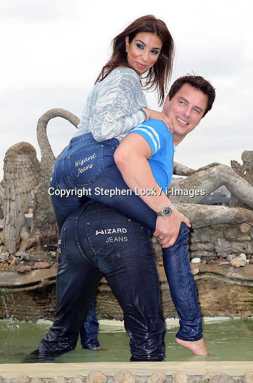 Shobna Gulati and John Barrowman  who were named winners of the Wizard Jeans Rear of the Year awards in London, Wednesday, 27th June 2012 Photo by: Stephen Lock / i-Images