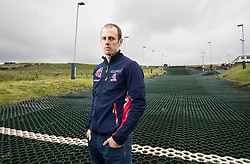 Great Britain Winter Olympics athlete Dave Ryding poses for a picture during the photocall at Pendle Ski Club.