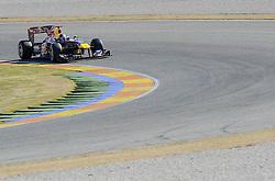 01.02.2011, Street Circuit. Jerez, ESP, Formel 1 Test 1 Valencia 2011,  im Bild Sebastian Vettel (GER), Red Bull Racing- EXPA Pictures © 2011, PhotoCredit: EXPA/ nph/  Dieter Mathis       ****** out of GER / SWE / CRO  / BEL ******