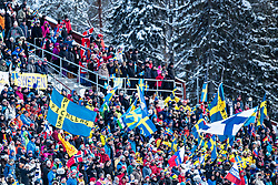 March 9, 2019 - –Stersund, Sweden - 190309 Swedish Fans in the Men's 10 KM sprint during the IBU World Championships Biathlon on March 9, 2019 in Östersund..Photo: Johan Axelsson / BILDBYRÃ…N / Cop 245 (Credit Image: © Johan Axelsson/Bildbyran via ZUMA Press)