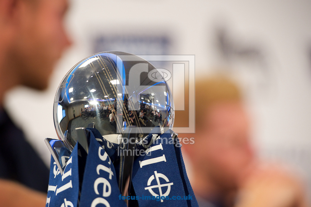 The Investec Trophy at the Investec Ashes Press Conference at Investec Bank, City of London<br /> Picture by Alan Stanford/Focus Images Ltd +44 7915 056117<br /> 02/07/2015