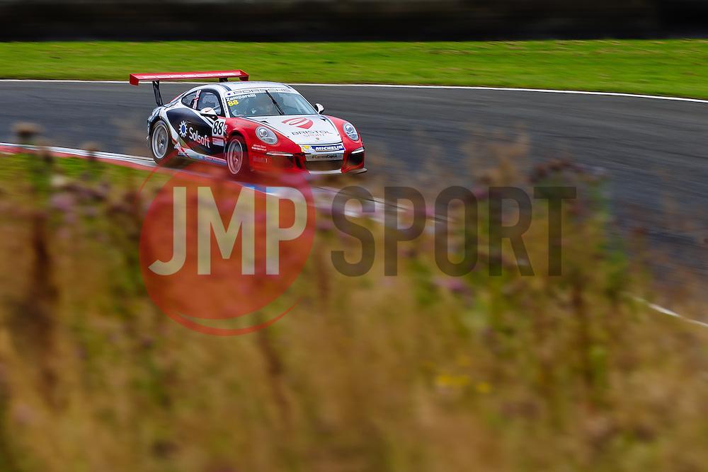Dino Zamparelli | Bristol Sport Racing | #88 Porsche 911 GT3 Cup Car | Porsche Carrera Cup GB | Qualifying - Mandatory byline: Rogan Thomson/JMP - 07966 386802 - 22/08/2015 - MOTORSPORT - Knockhill Racing Circuit - Dunfermline, Scotland - BTCC Meeting Day 1.