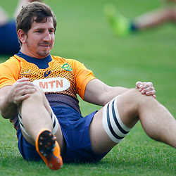 TOKYO, JAPAN - OCTOBER 15: Kwagga Smith during the South African national rugby team training session at Fuchu Asahi Football Park on October 15, 2019 in Tokyo, Japan. (Photo by Steve Haag/Gallo Images)