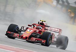 October 19, 2018 - Austin, Texas, U.S - 7 ''KIMI R€IKK…NEN'' Scuderia Ferrari at turn 6, despite heavy rains during the preliminaries. (Credit Image: © Hoss McBain/ZUMA Wire)