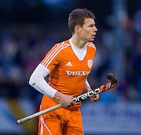 NAALDWIJK - Jelle Galema tijdens de oefenwedstrijd van Jong Oranje heren tegen Belgie (3-3). Ter voorbereiding van het WK in India in december. COPYRIGHT KOEN SUYK