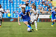 Aron Gunnarsson of Cardiff City during the EFL Sky Bet Championship match between Cardiff City and Leeds United at the Cardiff City Stadium, Cardiff, Wales on 17 September 2016. Photo by Andrew Lewis.