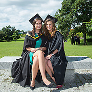 "25.08.2016          <br />  Faculty of Business, Kemmy Business School graduations at the University of Limerick today. <br /> <br /> Attending the conferring were Bachelor of Business Studies graduates, Karen Roche, Loughrea Co. Galway and Kate O'Brien, Kildimo Co. Limerick. Picture: Alan Place.<br /> <br /> <br /> <br /> As the University of Limerick commences four days of conferring ceremonies which will see 2568 students graduate, including 50 PhD graduates, UL President, Professor Don Barry highlighted the continued demand for UL graduates by employers; ""Traditionally UL's Graduate Employment figures trend well above the national average. Despite the challenging environment, UL's graduate employment rate for 2015 primary degree-holders is now 14% higher than the HEA's most recently-available national average figure which is 58% for 2014"". The survey of UL's 2015 graduates showed that 92% are either employed or pursuing further study."" Picture: Alan Place"
