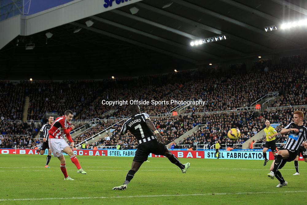 21st December 2014 - Barclays Premier League - Newcastle United v Sunderland - Adam Johnson of Sunderland scores their 1st goal - Photo: Simon Stacpoole / Offside.