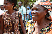 Anastasie Nakahosa and Pauline Velo, community volunteers who were trained in healthy nutrition techniques by Action Against Hunger in the rural town of Masi Manimba, DRC, with the help of UK aid. They now train families in their communities, educating them how to eat more healthily with the local produce that they grow in community farming projects.