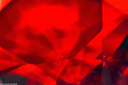 layers of red floating abstract transparent shapes in rough texture