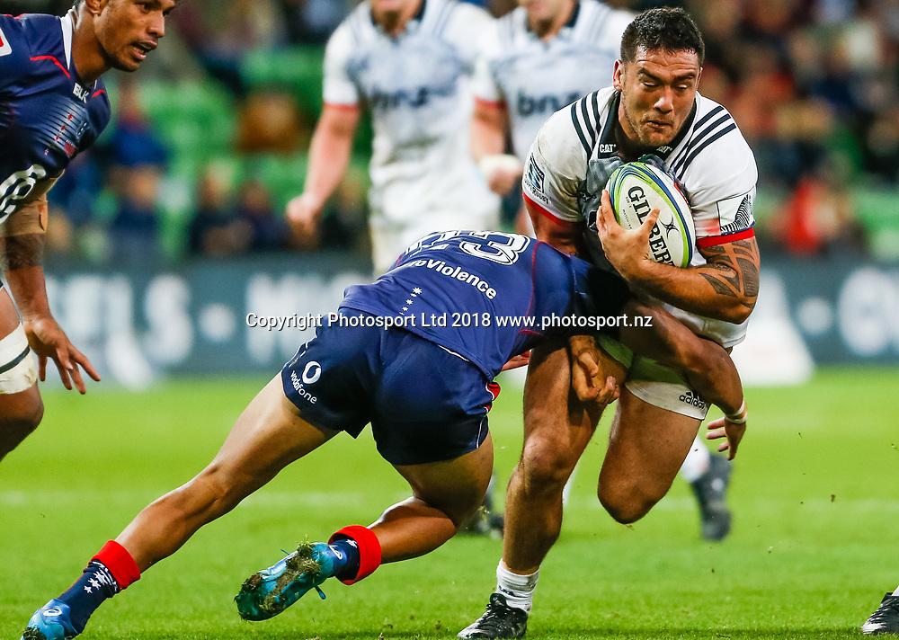 Codie Taylor during Rebels v Crusaders, 2018 Super Rugby season, AAMI Park, Melbourne, Australia. 4 May 2018. Copyright Image: Brendon Ratnayake / www.photosport.nz