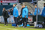 Forest Green Rovers assistant manager, Scott Lindsey and Forest Green Rovers manager, Mark Cooper, during the Vanarama National League match between Bromley FC and Forest Green Rovers at Hayes Lane, Bromley, United Kingdom on 7 January 2017. Photo by Shane Healey.