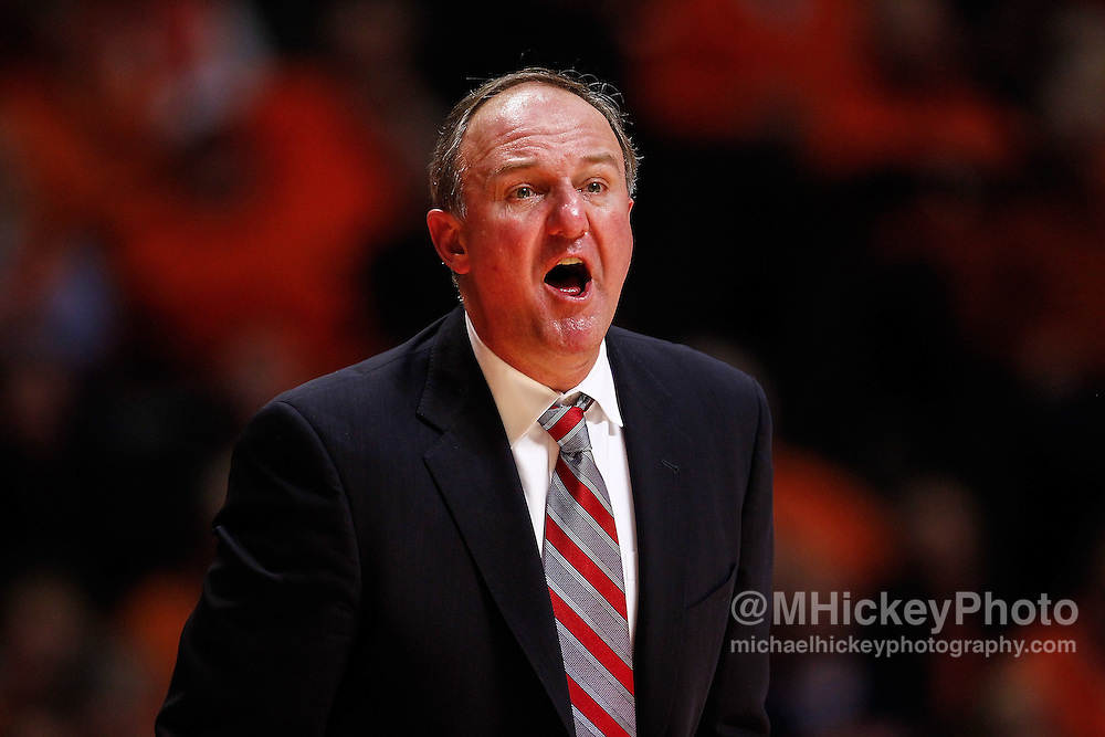 CHAMPAIGN, IL - JANUARY 05: Head coach Thad Matta of the Ohio State Buckeyes seen during the game against the Illinois Fighting Illini at Assembly Hall on January 5, 2013 in Champaign, Illinois. Ilinois defeated Ohio State 74-55. (Photo by Michael Hickey/Getty Images) *** Local Caption *** Thad Matta